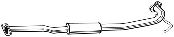 Silencieux central WALKER 22990 (X1)