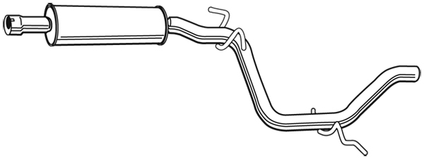 Silencieux central WALKER 23082 (X1)