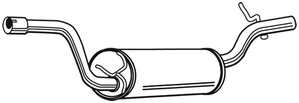 Silencieux arriere WALKER 23110 (X1)