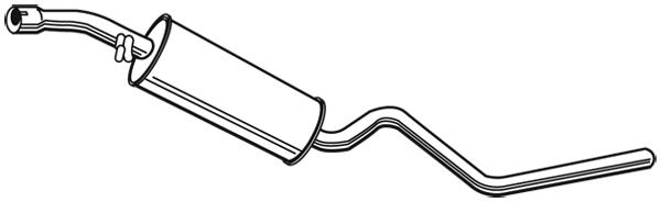 Silencieux central WALKER 23207 (X1)