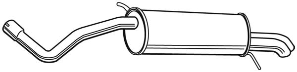 Silencieux arriere WALKER 23208 (X1)