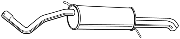 Silencieux arriere WALKER 23345 (X1)
