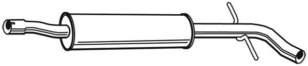 Silencieux central WALKER 24053 (X1)