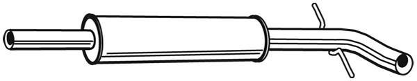 Silencieux central WALKER 24058 (X1)