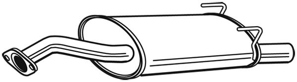 Silencieux arriere WALKER 25101 (X1)