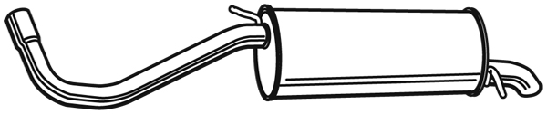Silencieux arriere WALKER 71100 (X1)
