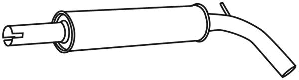 Silencieux central WALKER 71335 (X1)