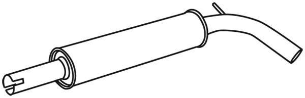Silencieux central WALKER 71339 (X1)