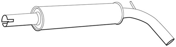 Silencieux central WALKER 71341 (X1)