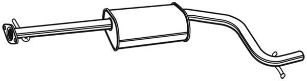 Silencieux central WALKER 71377 (X1)