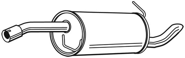 Silencieux arriere WALKER 71398 (X1)