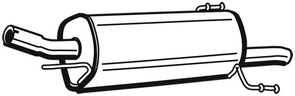 Silencieux arriere WALKER 72349 (X1)