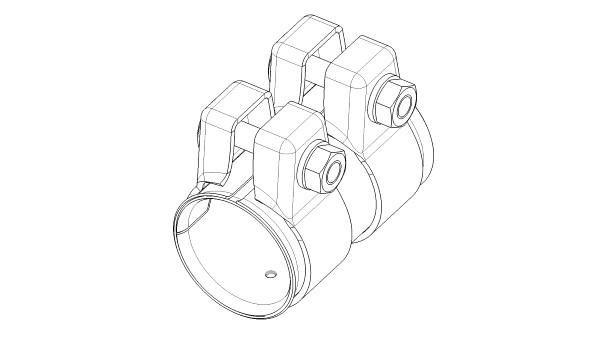 Raccord de tuyau d'echappement (X1)