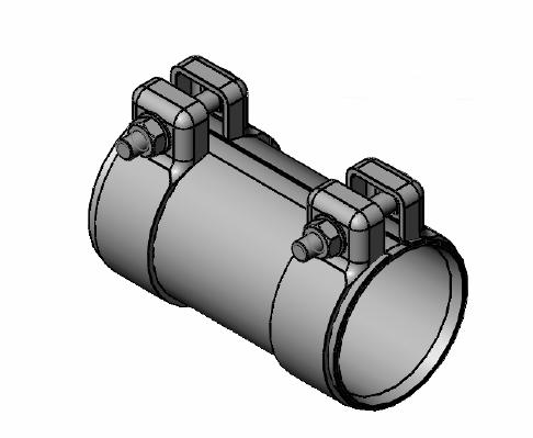 Raccord de tuyau d'echappement WALKER 80719 (X1)