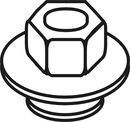 Boulons d'echappement WALKER 81781 (X1)