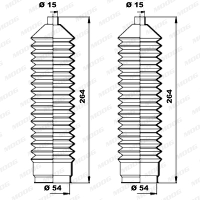 Joints soufflets direction - crémaillère MOOG K150041 (X1)