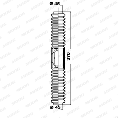 Joints soufflets direction - crémaillère MOOG K150099 (X1)