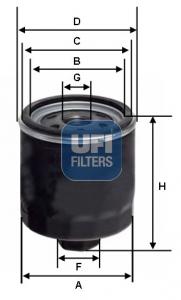 Filtre a huile UFI 23.164.03 (X1)