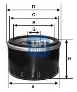 Filtre a huile UFI 23.250.00 (X1)
