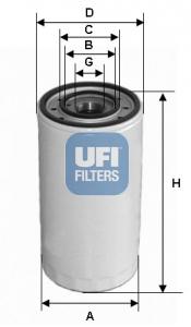 Filtre a huile UFI 23.313.00 (X1)