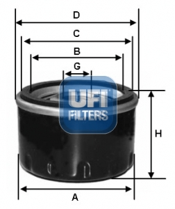 Filtre a huile UFI 23.565.00 (X1)