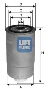 Filtre a carburant UFI 24.351.00 (X1)