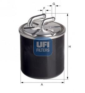 Filtre a carburant UFI 24.436.00 (X1)