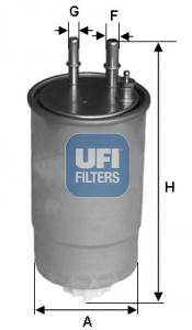 Filtre a carburant UFI 24.ONE.01 (X1)