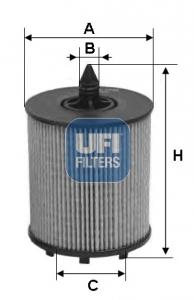 Filtre a huile UFI 25.024.00 (X1)