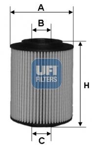 Filtre a huile UFI 25.054.00 (X1)
