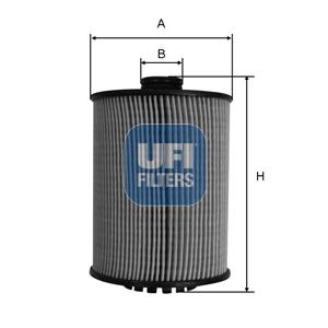 Filtre a huile UFI 25.089.00 (X1)
