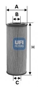 Filtre a huile UFI 25.095.00 (X1)
