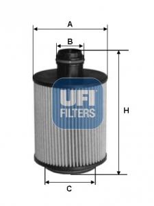 Filtre a huile UFI 25.112.00 (X1)