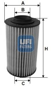 Filtre a huile UFI 25.163.00 (X1)