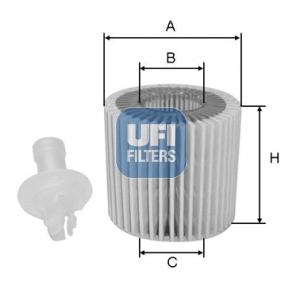 Filtre a huile UFI 25.196.00 (X1)