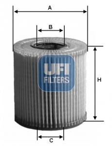 Filtre a huile UFI 25.198.00 (X1)