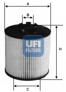 Filtre a huile UFI 25.199.00 (X1)