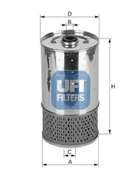 Filtre a huile UFI 25.528.00 (X1)