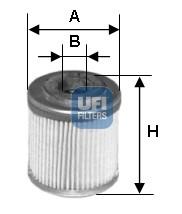 Filtre a huile UFI 25.547.00 (X1)