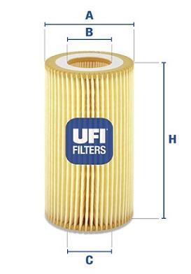 Filtre a huile UFI 25.003.00 (X1)