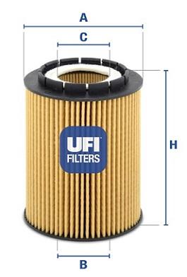 Filtre a huile UFI 25.010.00 (X1)