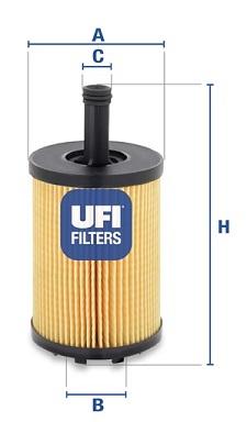 Filtre a huile UFI 25.023.00 (X1)