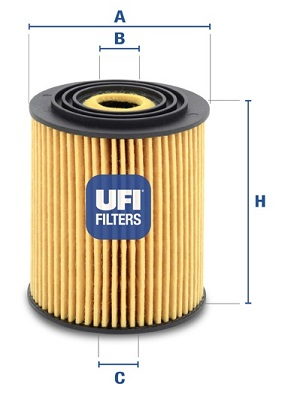 Filtre a huile UFI 25.034.00 (X1)