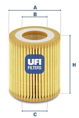 Filtre a huile UFI 25.049.00 (X1)