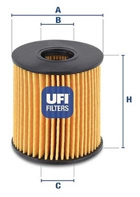 Filtre a huile UFI 25.060.00 (X1)
