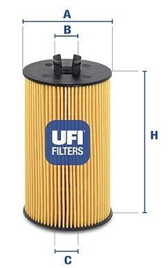 Filtre a huile UFI 25.064.00 (X1)