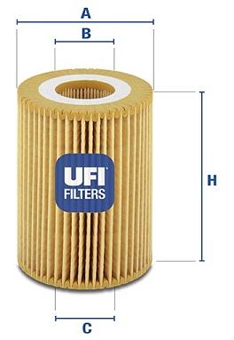 Filtre a huile UFI 25.069.00 (X1)