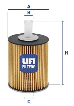 Filtre a huile UFI 25.077.00 (X1)