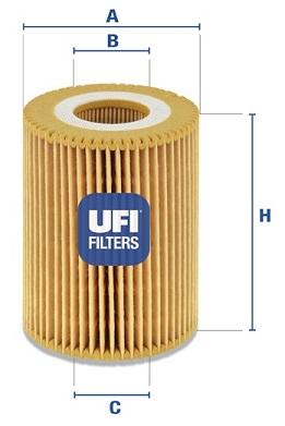 Filtre a huile UFI 25.085.00 (X1)