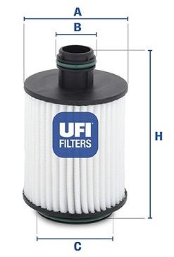 Filtre a huile UFI 25.093.00 (X1)